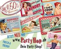 Neu bei Party-Hop: Say it 50´s Blechschild-Grußkarten