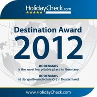 HolidayCheck Destination Award 2012 geht an Bodenmais