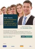 Endspurt im WiWi-Talents-Hochbegabtenprogramm