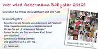 Ackermann Babystar 2012 - der grosse Auftritt der Kleinsten