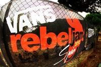BMX-Action mit Eventausstattung von allbuyone beim VANS Rebeljam