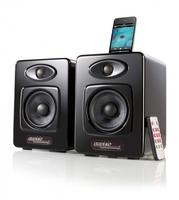 auvisio hochwertige 2.0 Design-Lautsprecher mit iPod-Dock