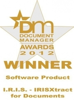 "IRISXtract™ for Documents ist ""DM Software Product of the Year"""