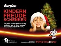 Energizer und das Deutsche Kinderhilfswerk schenken Kindern Freude - that´s positivenergy
