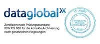 dataglobal Archiv erfolgreich von unabhängigen Wirtschaftsprüfern zertifiziert