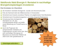 Energiewald-Fonds bei ForestFinance erwerbbar
