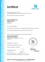 Holger Grosser: mittlerweile zweimal ISO-9001-zertifiziert