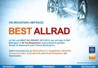 """Ranking """"Best Allrad"""": Wintersportler wählen Audi Quattro auf Platz 1"""