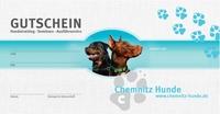 Noch kein Weihnachtsgeschenk? Mit dem Gutschein von Chemnitz Hunde Wissen, Zeit oder Erziehung schenken