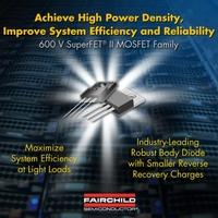 Hochvolt-MOSFETs mit sehr robuster Body-Diode von Fairchild Semiconductor bieten höchste Leistungsfähigkeit für AC-DC-Leistungsanwendungen