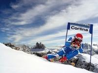 Ganz nah bei der Skikönigin von Cortina