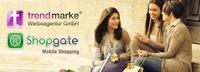 Mobile Webseite mit trendmarke und Shopgate