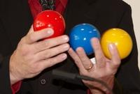 Dienste rund um Mitmachevents und Business-Jonglage auf der Messe BEST OF EVENTS am 16. und 17. Janaur 2013 in Dortmund und ganzjährig im GOP Varieté Theater München