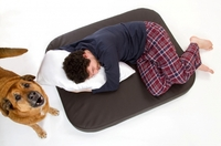 Elegante orthopädische Hundematten aus Kunstleder