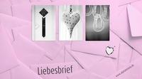 Liebesbotschaften zum Valentinstag, aus Alphabet Fotos.
