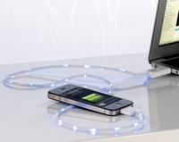 Callstel Lauflicht-Ladekabel für iPhone, iPad, iPod mit Dock-Connector