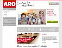 ARO Heimtextilien-Shop von Internetagentur Xparo umgesetzt