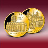 Bayerisches Münzkontor ehrt Stadt Halle mit Stadtmotiv-Prägungen