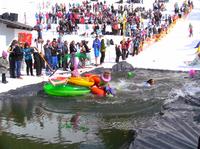 Verrückter Watersurf Contest in See