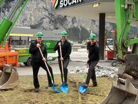 Spatenstich: Zwei neue Autogas-Tankstellen am Gotthard