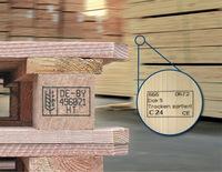 Holz berührungsfrei kennzeichnen