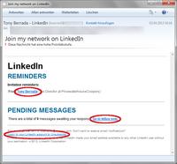Gefälschte LinkedIn E-Mails locken in die Schadcode-Falle