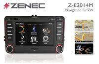 Zenec Z-E2014M - Navigation für VW Golf V und VI Plattform