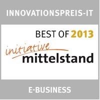 """InterNetX-DomainShop erhält das """"BEST OF 2013""""-Siegel"""
