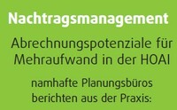 Seminarreihe Nachtragsmanagement für Planungsleistungen
