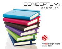 CONCEPTUM® Notizbuch: Ausgezeichnetes Design. Exzellente Qualität. Hohe Funktionalität.