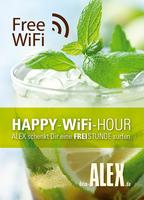 Happy-WiFi-Hour bei ALEX