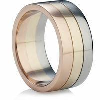 Ringpaare aus mehreren Edelmetallen kommen immer mehr in Mode