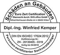 Winfried Kemper Sachverständiger für Schäden an Gebäuden