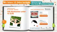 15 Wochen - 15 Aktionen: Zum großen Jubiläum von buch.de
