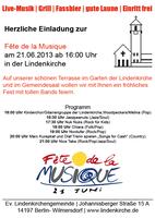 Fête de la Musique am 21. Juni 2013 in der Lindenkirche Berlin Wilmersdorf