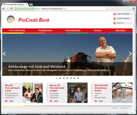 formativ Internetagentur Frankfurt erstellt neue Website der ProCredit Bank Deutschland