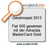Gewinnspiel: Fiat 500 mit der Advanzia MasterCard Gold gewinnen