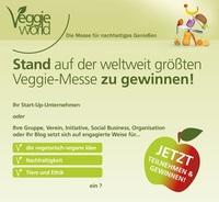 Vegetarierbund Deutschland (VEBU) verlost fünf Standflächen auf Deutschlands größter Messe für Vegetarier, Veganer und Rohkostfreunde