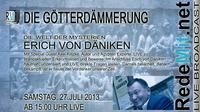 Premiere: Erich von Däniken interaktiv via Social Talk bei RedeMit.net am 27. Juli 2013