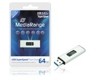 MediaRange USB 3.0 SuperSpeed Flash Drive: Highspeed USB-3.0-Sticks mit bis zu 64 Gigabyte Kapazität und lebenslanger Garantie