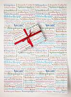 Exklusives Geschenkpapier mit Wortschätzen