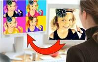 PopArtProfis.com bietet 15 coole Möglichkeiten Ihr Foto in ein Pop Art Bild zu verwandeln