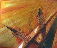 KUNSTRAUMHOFGASSE zeigt G.E. PIENTKA -  Komposition Landschaft