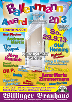 BALLERMANN AWARD 2013 - wieder in Willingen!