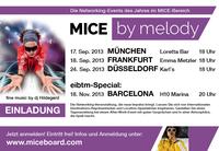 Event-Branchen-Treff: MICE by melody im September in Muenchen, Frankfurt und Duesseldorf