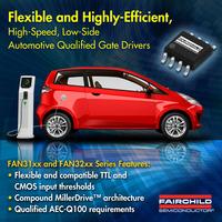 Schnelle Low-Side-Treiberfamilie von Fairchild Semiconductor mit Automotive-Qualifikation ermöglicht höhere Effizienz und vereinfacht die Entwicklung