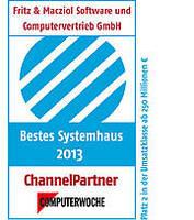 """COMPUTERWOCHE und ChannelPartner küren FRITZ & MACZIOL als eines der """"Besten Systemhäuser Deutschlands 2013"""""""