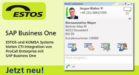 ESTOS und KOMSA Systems bieten CTI-Integration in SAP Business One an