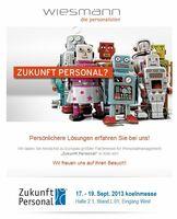 """Wiesmann Personalisten GmbH - Premiere auf der """"Zukunft Personal"""""""