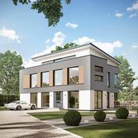 Bien-Zenker Musterhaus für Plus-Energie-Quartierslösung